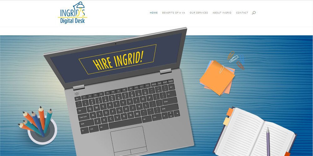 Ingrid's Digital Desk Website